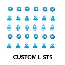CUSTOM LISTS FROM TELEGRAM GROUPS